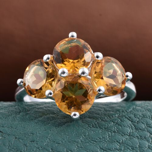 Citrine (Rnd) Ring in Sterling Silver 3.000 Ct.