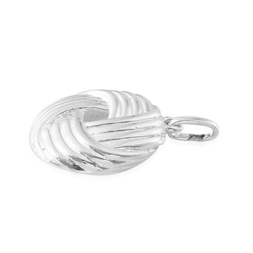 Sterling Silver Knot Pendant, Silver wt 5.64 Gms.