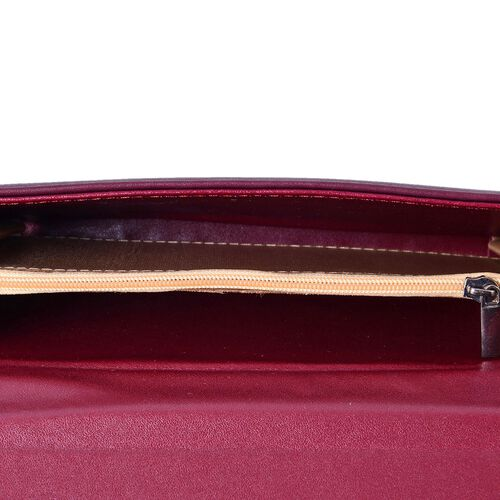 Roseberry Burgundy Clutch Bag / Travel Wallet (Size 19x10 Cm)