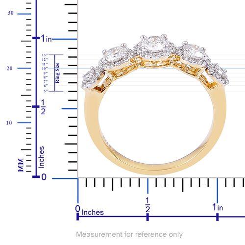 ILIANA 18K Yellow Gold IGI Certified 1 Carat Diamond (SI/G-H) Ring