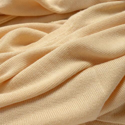 Beige Colour Cowl Neck Pattern Cardigan (Size Large / Xtra Large)