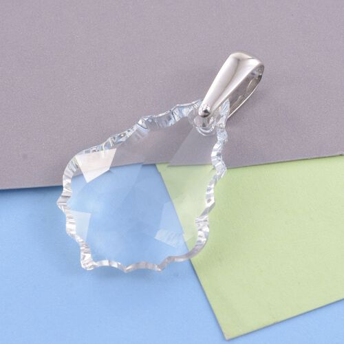 J Francis Crystal from Swarovski - Noac Crystal Pendant in Platinum Overlay Sterling Silver