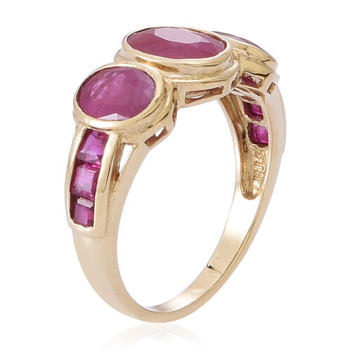 9K Y Gold Burmese Ruby (Ovl 1.50 Ct) Ring 4.000 Ct.