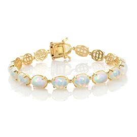 20 Carat AAA Ethiopian Welo Opal Bracelet in 9K Gold 7.75 Inch