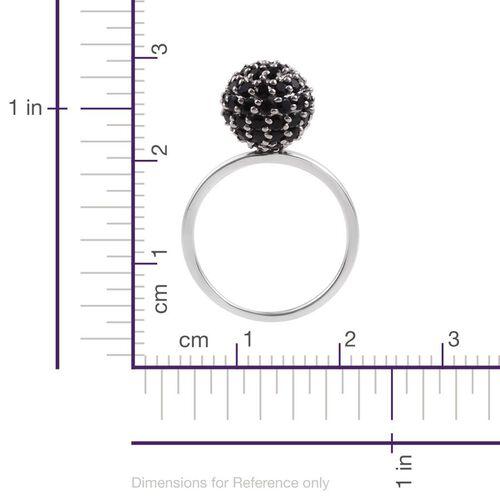 9K White Gold Boi Ploi Black Spinel (Rnd) Ball Ring 2.750 Ct.