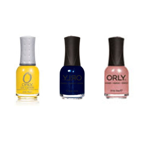 Orly Nail Polish Trio- In the Navy 18ml Toast the Couple-18ml and Hook up-18ml