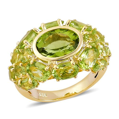 AA Hebei Peridot (Ovl 2.75 Ct) Ring in Yellow Gold Overlay Sterling Silver 8.200 Ct.