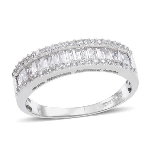 ELANZA AAA Simulated White Diamond (Oct) Ring in Sterling Silver