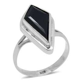 Royal Bali Collection Boi Ploi Black Spinel Ring in Sterling Silver 11.430 Ct.