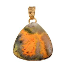 Bumble Bee Jasper (Trl) Solitaire Pendant in 14K Gold Overlay Sterling Silver 44.640 Ct.