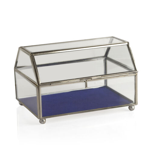 (Option 4) Vintage Glass Jewellery and Display Box (Size 20x12 Cm)