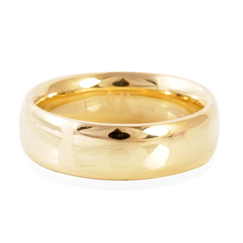 Limited Edition - Hand Polished Royal Bali Collection 9K Yellow Gold Heavy Band Ring.