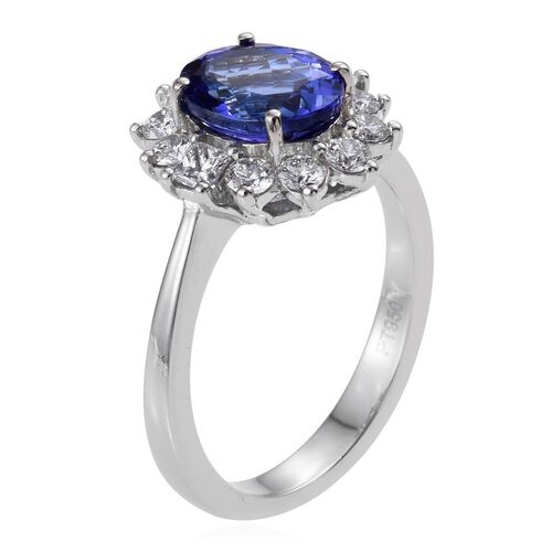 RHAPSODY 950 Platinum AAAA Tanzanite (Ovl 2.25 Ct), Diamond Ring 3.020 Ct.