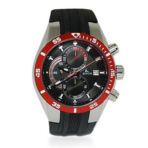 ZTSPORT Gents Japanese Seiko Movement Chronograph 10ATM Water Resistant Watch With Silicone Strap
