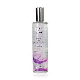 TJC Lavender and Rose Geranium Room Spray 110ml