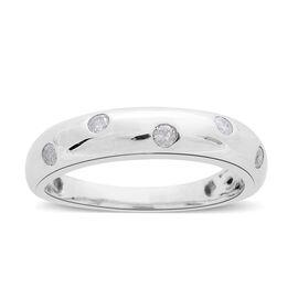 9K White Gold 0.15 Ct Diamond (Rnd) Band Ring SGL Certified (I3/G-H)