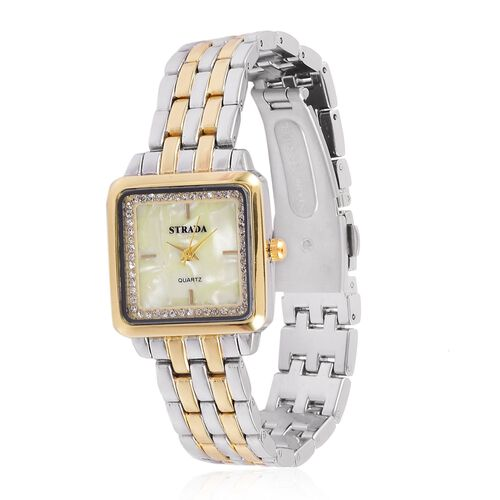 STRADA Japanese Movement Water Resistant Watch with Austrian Crystal