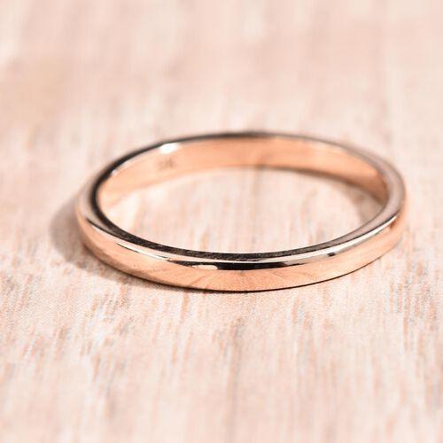 9K Rose Gold Plain Band Ring