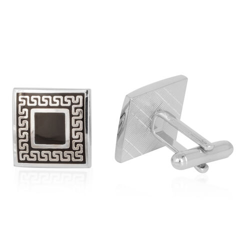 (Option 1) Close Out Deal Cufflinks in Silver Bond
