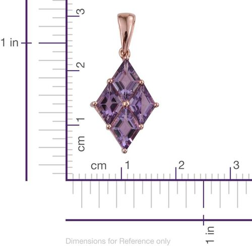Rose De France Amethyst Pendant in 14K Rose Gold Overlay Sterling Silver 3.250 Ct.