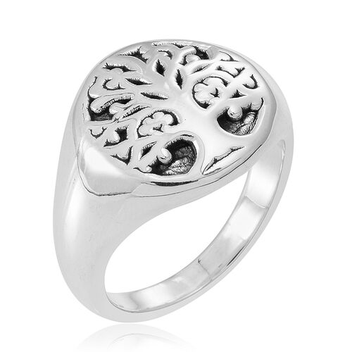 Thai Sterling Silver Tree Ring, Silver wt 5.19 Gms.