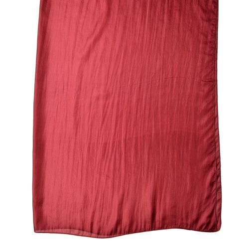 100% Mulberry Silk Red Ochre Colour Scarf (Size 180X100 Cm)