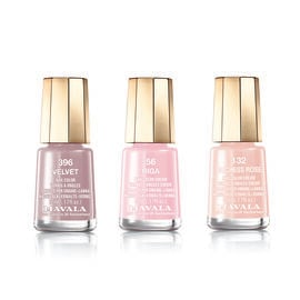 MAVALA- Trio Nail Polish Set-Nude- 56 Riga, 132 Duchess Rose and 396 Velvet.