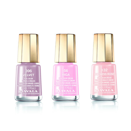 Presenters Choice Colour -MAVALA-Trio Nail Polish Set-Nude- 56 Riga, 132 Duchess Rose and 396 Velvet.