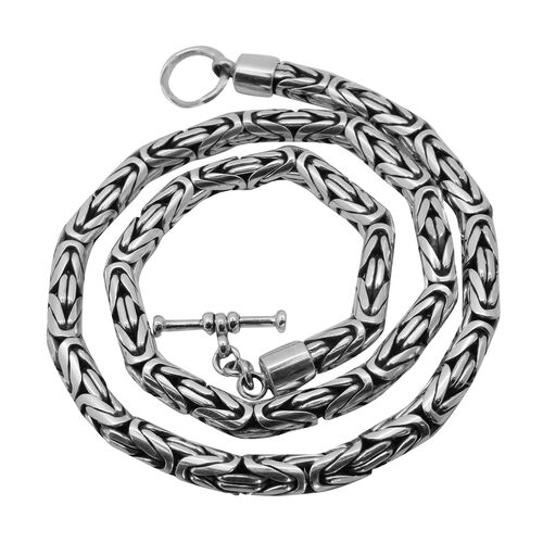 Royal Bali Collection Sterling Silver Borobudur Necklace (Size 20), Silver wt 101.24 Gms.