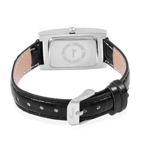 GENOA Abalone Shell Dial Japanese Movement Silver Tone Watch