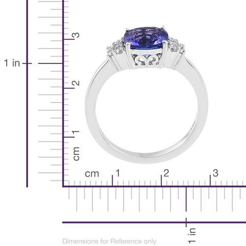 ILIANA 2 Carat AAA Tanzanite and Diamond SI/G-H Ring in 18K White Gold