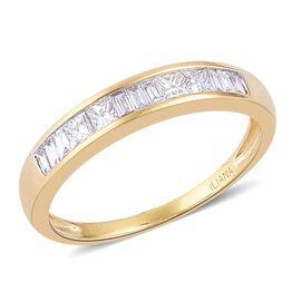 ILIANA 18K Yellow Gold IGI Certified 0.50 Carat SI G Diamond Half Eternity  Ring