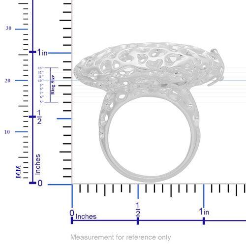 RACHEL GALLEY Sterling Silver Charmed Pebble Locket Ring, Silver wt 10.46 Gms.
