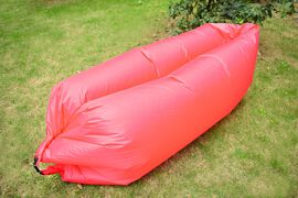 Red Colour Self Inflating Air Lounger with Carry Pouch