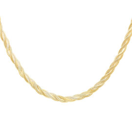 JCK Vegas Collection 9K Yellow Gold Twisted Necklace (Size 17), Gold wt. 18.20 Gms.