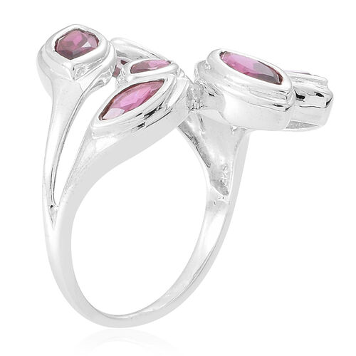 Rhodolite Garnet (Mrq) Ring in Sterling Silver 2.550 Ct.