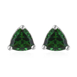 Collectors Edition RHAPSODY 950 Platinum AAAA Tsavorite Garnet (Trl) Stud Earrings (with Screw Back) 1.000 Ct.