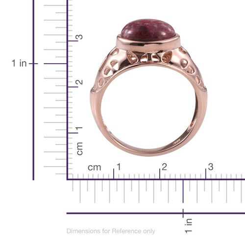 Norwegian Thulite (Ovl) Solitaire Ring in Rose Gold Overlay Sterling Silver 5.750 Ct.