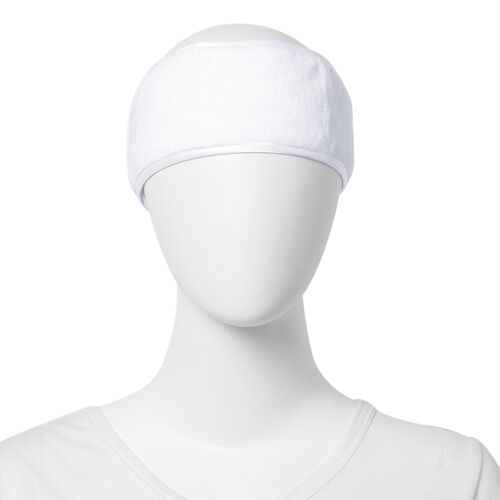 Set of 3 - White Colour Face Shield, Drying Cap and Head Band