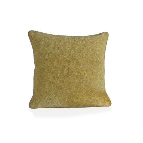 (Option 1) Tiles Pattern Yellow Colour Cushion (Size 43x43 Cm)