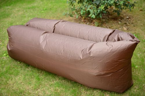 Chocolate Colour Self Inflating Air Lounger with Carry Pouch