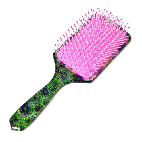 Pink, Geen and Multi Colour Massage Comb (Size 22x7 Cm)