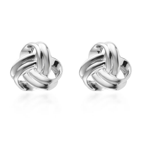 RHAPSODY 950 Platinum Knot Stud Earrings (with Screw Back), Platinum wt 3.44 Gms.