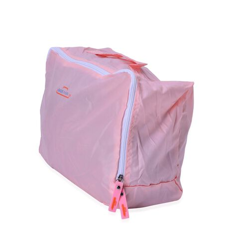 Set of 5 - Pink Colour Storage Bag (Size 36x30x13Cm, 36x28x6Cm, 31x28x5 Cm 27x20x5Cm and 30x20x10Cm)