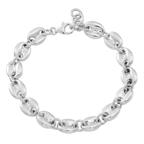 Vicenza Collection-Sterling Silver Anchor Link Bracelet (Size 8), Silver wt 12.86 Gms.