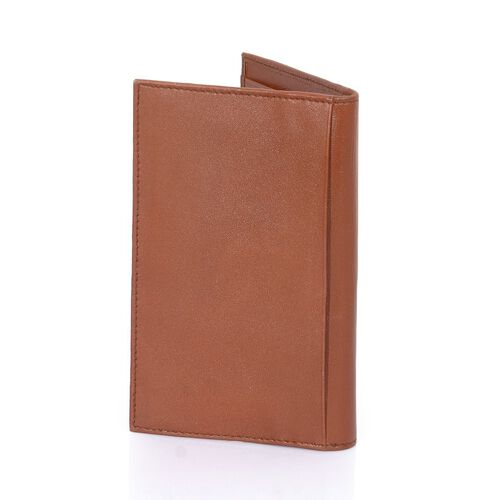 Genuine Leather Tan Colour Cards Holder (Size 10x11x1 Cm)