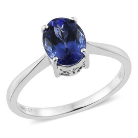 RHAPSODY 950 Platinum AAAA Tanzanite (Ovl) Solitaire Ring 2.000 Ct.