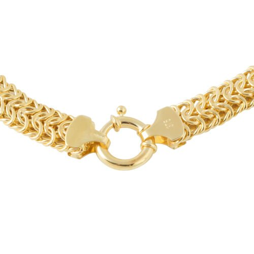 Limited Edition - Vicenza Collection 9K Yellow Gold Byzantine Bracelet (Size 7), Gold wt 6.65 Gms.