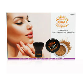 COUGAR- 5 in 1  Cinnamon Foundation 8g with large Kabuki brush.