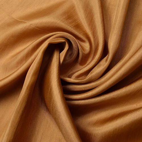 Pantone Collection- 100% Mulberry Silk Golden Brown Colour Scarf (Size 180X100 Cm)